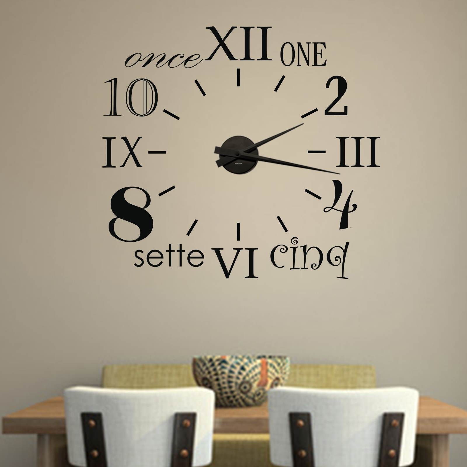 Wandtattoo Uhr Mit Uhrwerk 3791 Made House Decor