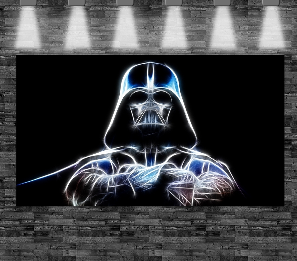 xxl star wars darth vader auf leinwand 110x60cm limitiert loft design bild luke ebay. Black Bedroom Furniture Sets. Home Design Ideas