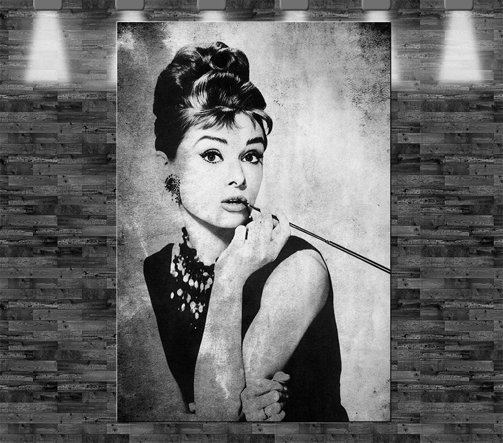 Xl Audrey Hepburn Auf Leinwand 90x60cm Limitiert Loft Design Bild